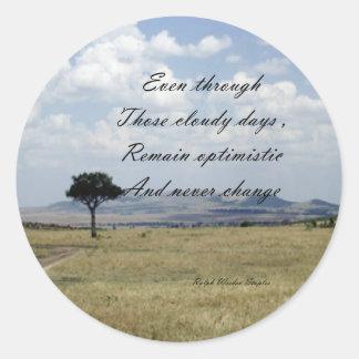 be optimistic classic round sticker
