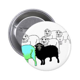 Be Original- Aquamarine Sheep 6 Cm Round Badge