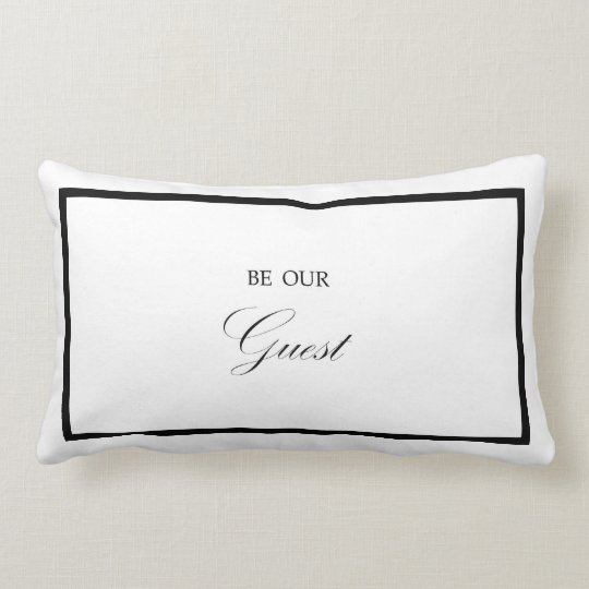 Be Our Guest Bedroom Throw Pillow