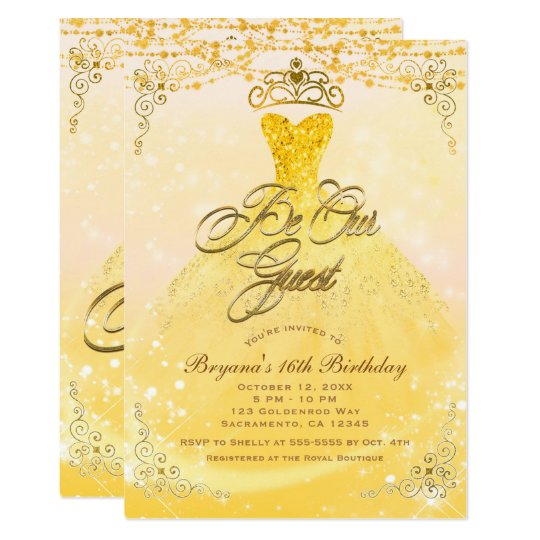 Be Our Guest Princess Yellow & Gold Sweet