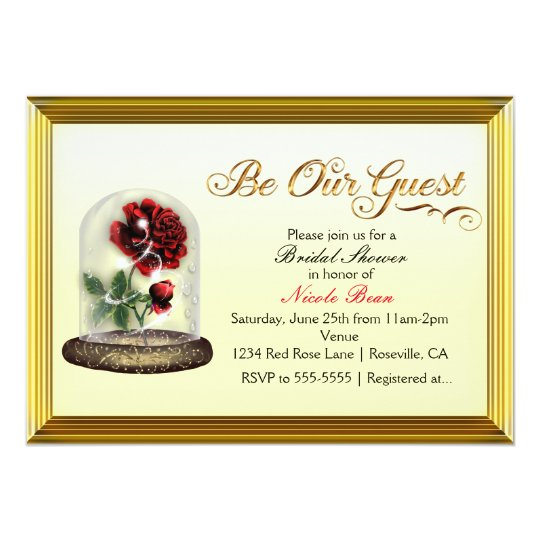 Be Our Guest Red Rose in Glass Elegant