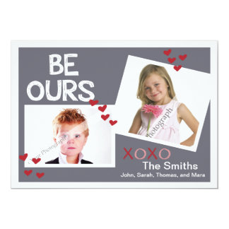 Be Ours Family Valentine Greeting Two Photo Layout Card