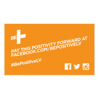 BE+ Pay it forward cards Pack Of Standard Business Cards