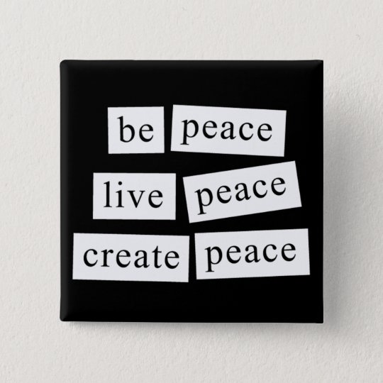 Be Peace 15 Cm Square Badge