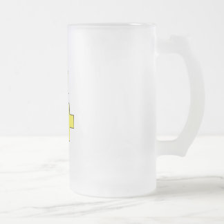 Be Positive Frosted Glass Mug