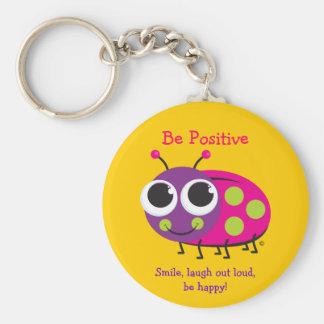 """Be Positive"" Ladybug Keychain"