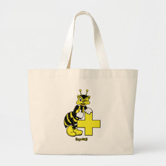 Be Positive Large Tote Bag