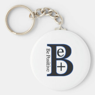 Be Positive Second Design Basic Round Button Key Ring