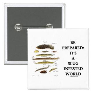 Be Prepared It s A Slug Infested World Button