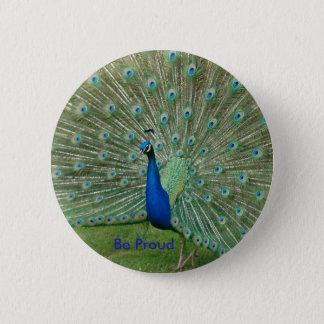 Be Proud Peacock Badge