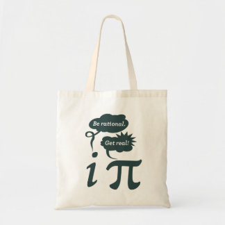 be rational! get real! canvas bag