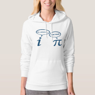 Be Rational Get Real Imaginary Math Pi Hoodies