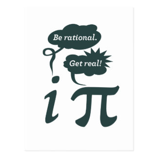 be rational get real post card