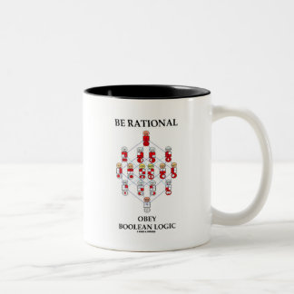 Be Rational Obey Boolean Logic (Hasse Diagram) Two-Tone Mug