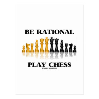 Be Rational Play Chess Reflective Chess Set Post Cards