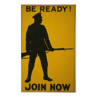 BE READY !  JOIN NOW !      WPA 1917 POSTER