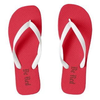 Be red! flip flops