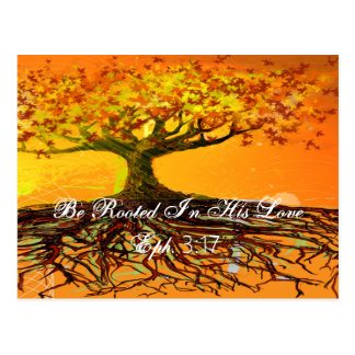 Be Rooted In His Love Ephesians 3:17 Post Card