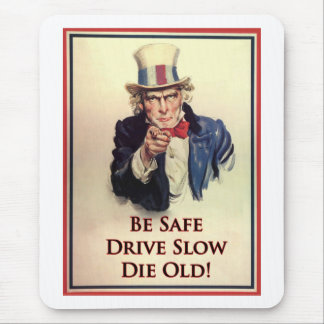 Be Safe Uncle Sam Poster Mouse Mat