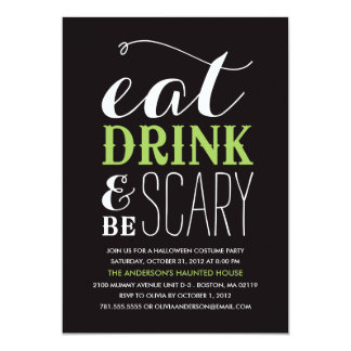 BE SCARY  | HALLOWEEN PARTY INVITATION