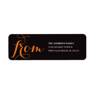 BE SCARY | HALLOWEEN RETURN ADDRESS LABELS