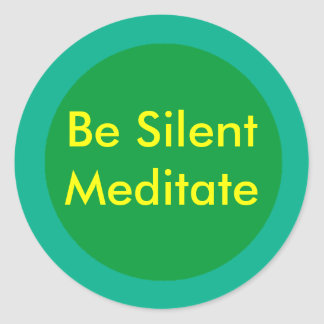 Be Silent The MUSEUM Zazzle Gifts Round Sticker