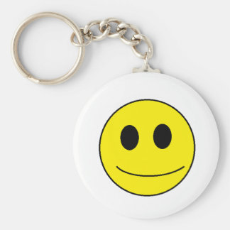 Be smiley, be happy. basic round button key ring