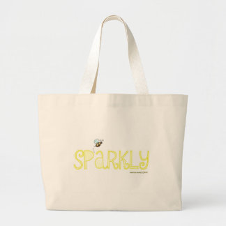 Be Sparkly - A Positive Word Jumbo Tote Bag