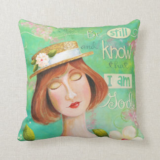 Be Still and Know Bible Verse Pillow