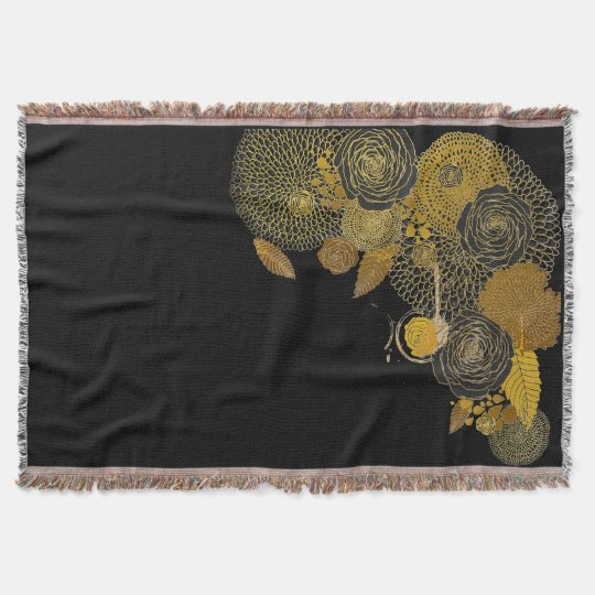 Be Still and Know Black and Gold Throw Blanket