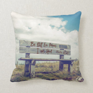 Be Still and Know I am God Bible Verse Cushion