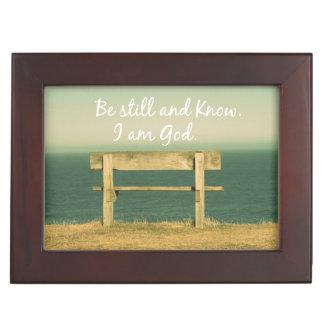 Be still and Know I am God Bible Verse Keepsake Box