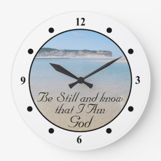 Be Still and Know I AM GOD Scripture Psalm 46:10 Large Clock