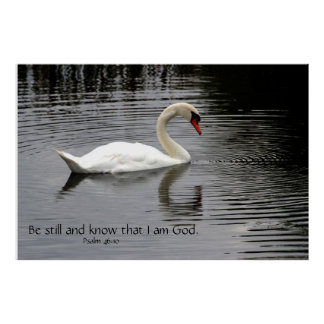 Be still and know Scripture Poster