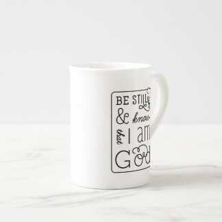 Be still and know that I am God Bible Verse Mug Bone China Mug