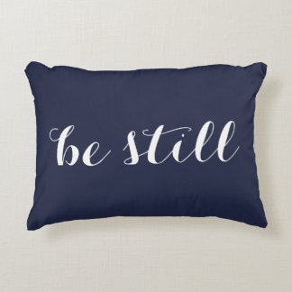 be still & believe double sided pillow
