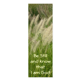 Be Still Bookmark Pack Of Skinny Business Cards