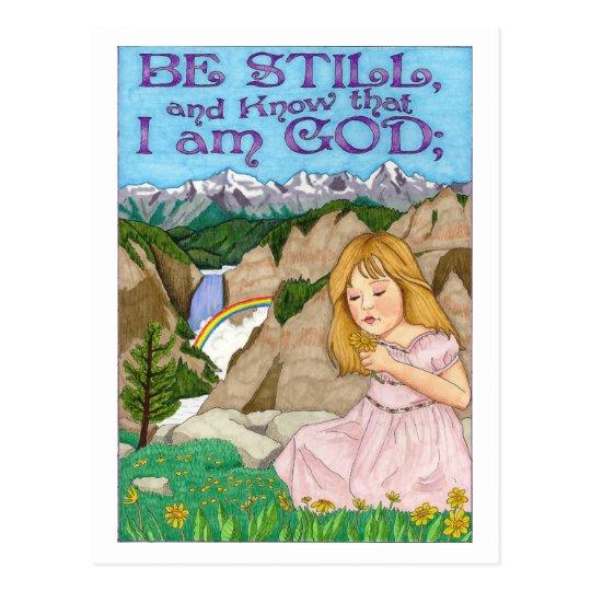 Be Still Inspirational Post Card