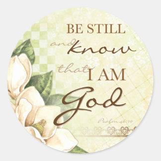 Be Still... Magnolia Round Stickers