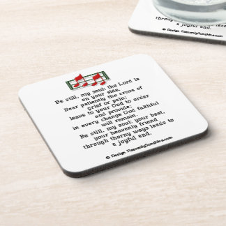 Be Still My Soul Christian Hymn Drink Coasters