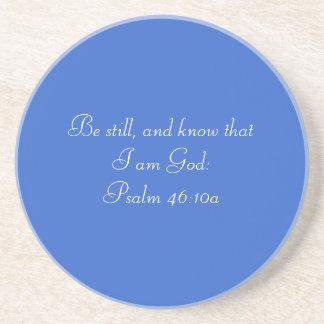 Be Still Psalm 46:10a Beverage Coaster