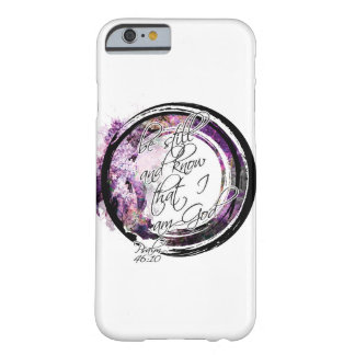Be Still Scripture Lavender Floral Wreath Barely There iPhone 6 Case