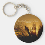 Be Still Sunset Basic Round Button Key Ring