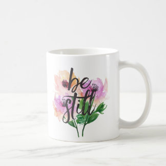 Be Still Watercolour Flowers Mug