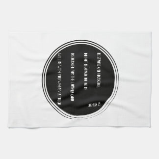 """Be Strong and Courageous"" Bible verse from Joshua Tea Towel"