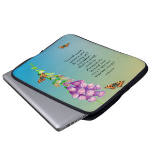 Be strong and courageous. Don't be afraid. Laptop Sleeves