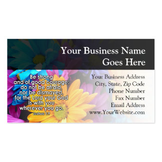 Be Strong Bible Scripture Business Card Templates