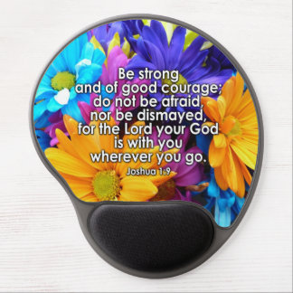 Be Strong Bible Scripture Gel Mouse Pads