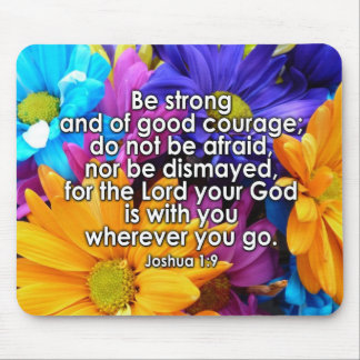 Be Strong Bible Scripture Mousepads
