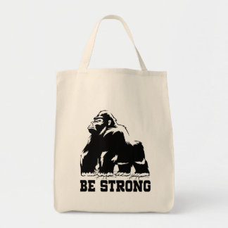 BE STRONG GORILLA TOTE BAG